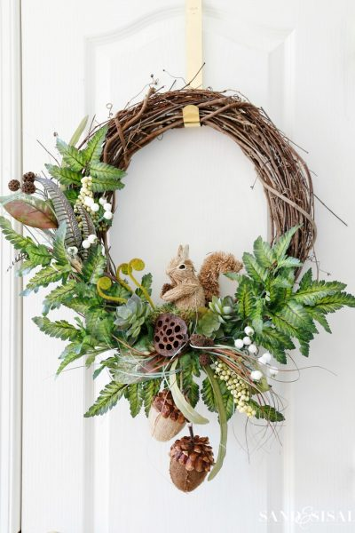Adorable DIY Fall Woodland Wreath