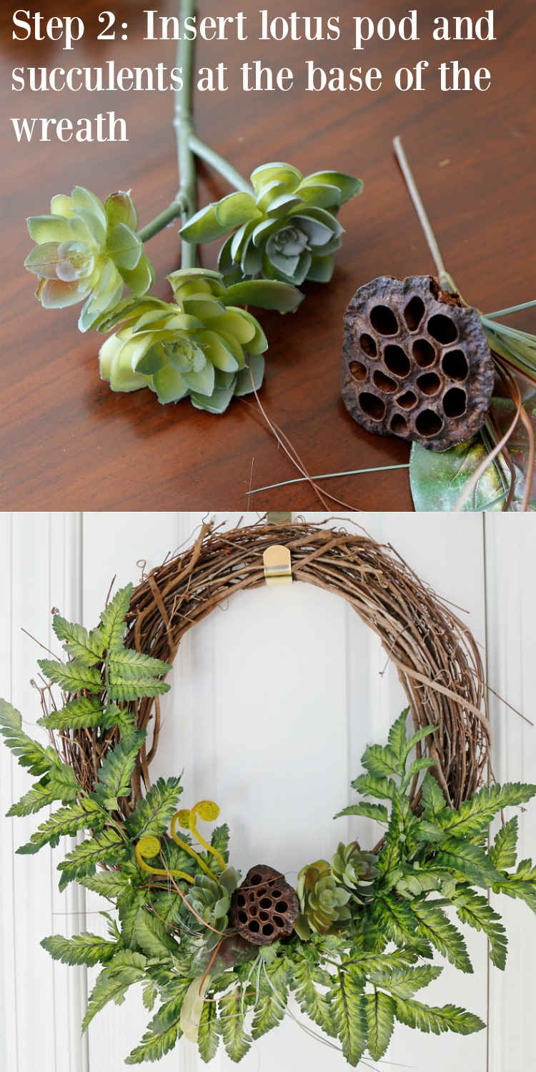 DIY Fall Woodland Wreath Step 2