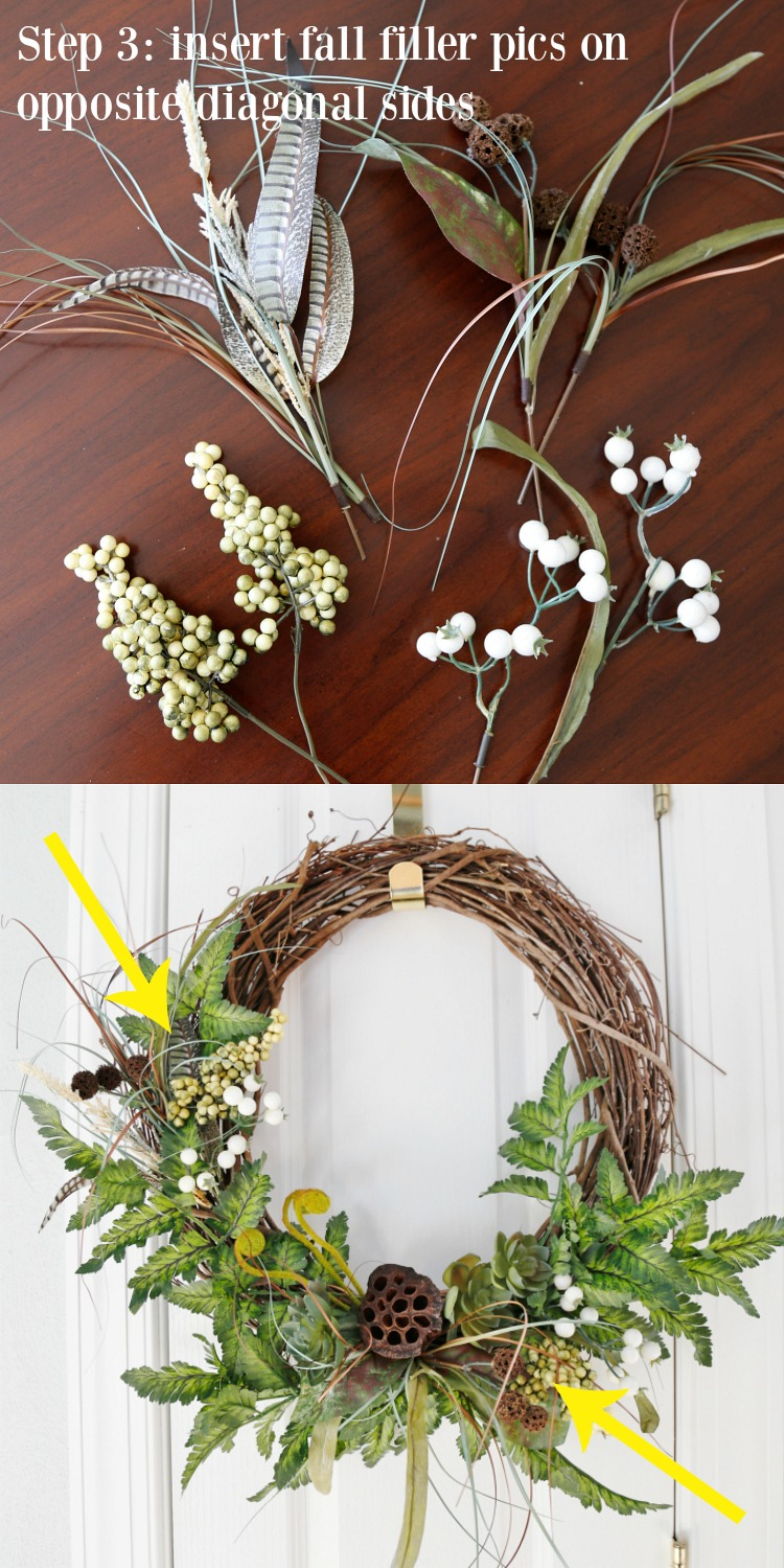 DIY Fall Woodland Wreath Step 3
