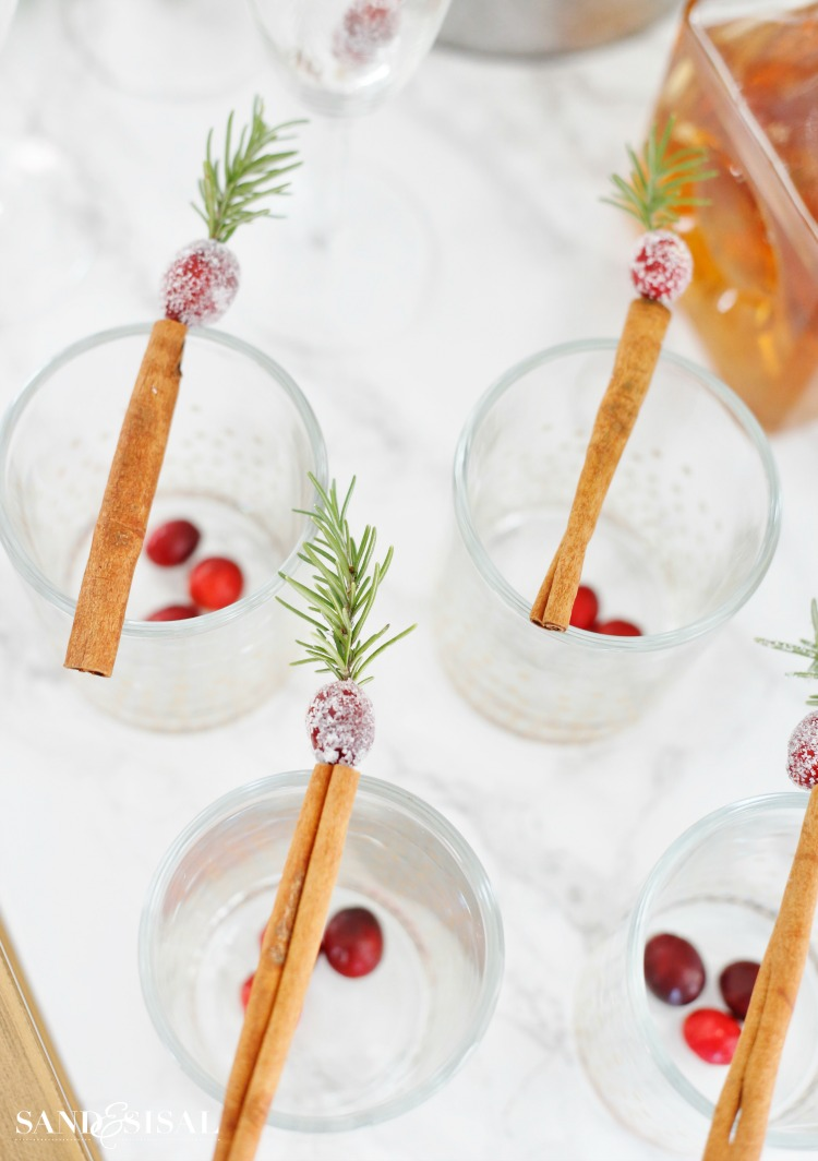 Cranberry Cinnamon Stir Sticks