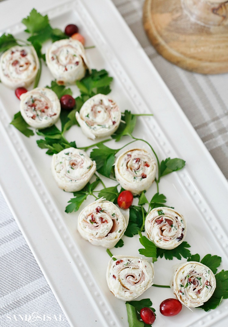 Cranberry Turkey Pinwheels