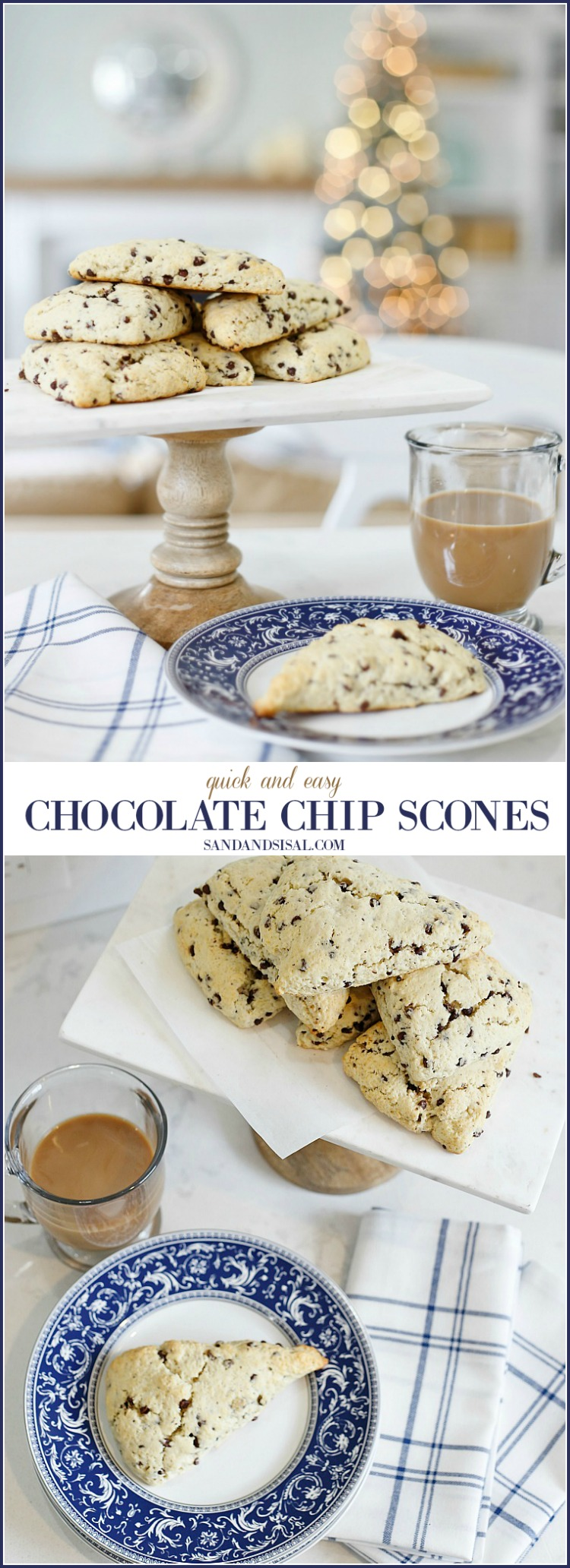 Quick and Easy Chocolate Chip Scones