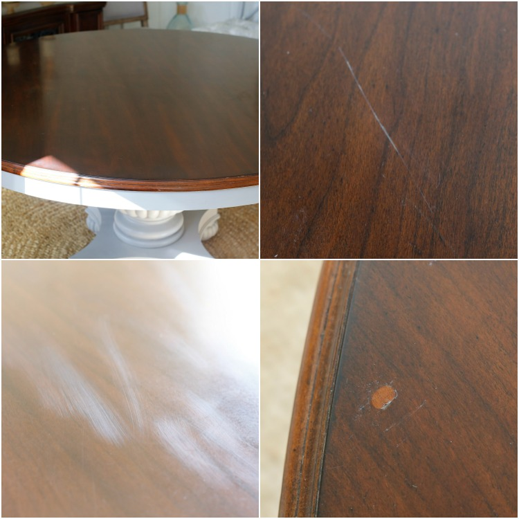 Refinishing The Tabletop Would Be A Risk I Was Willing To Take But If It Resulted In Failure Then Decided Simply Paint