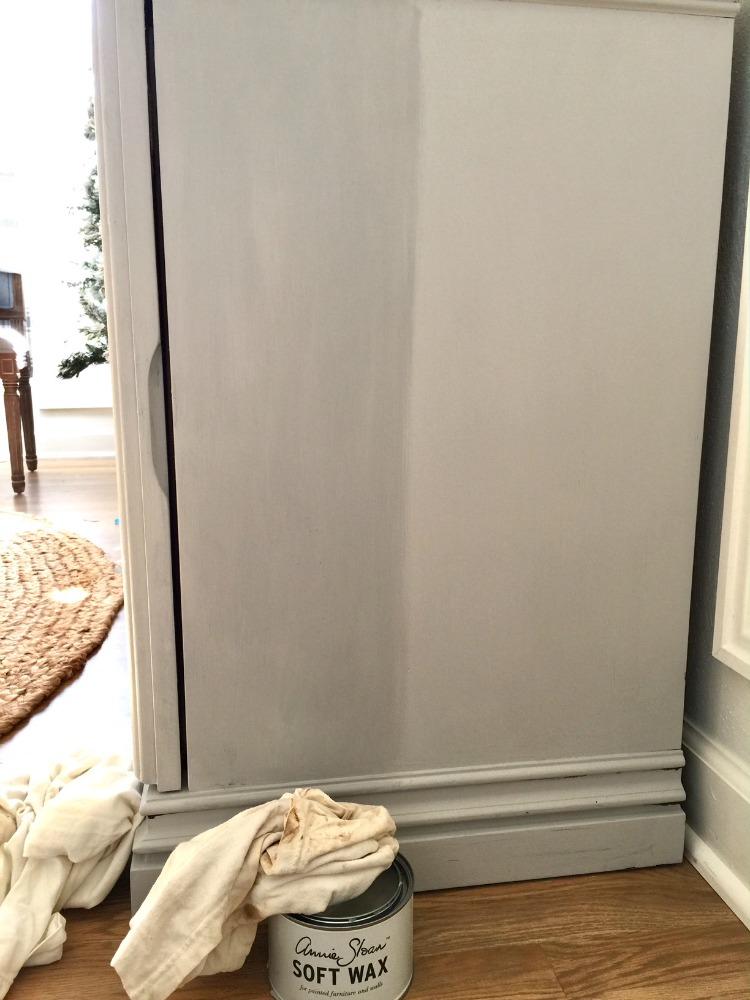 Chalk Painted Buffet   Clear Wax