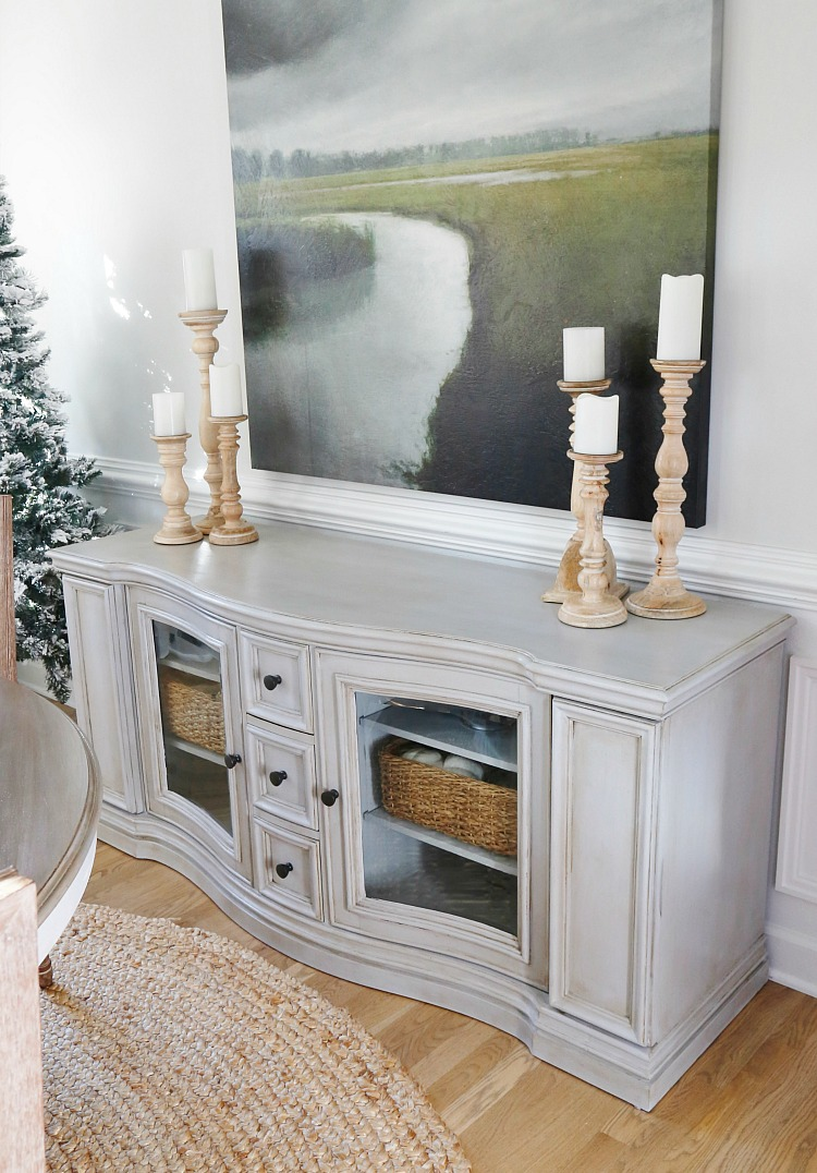 Chalk Painted Buffet Makeover