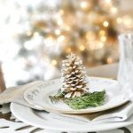 Rustic Glam Christmas Place Setting