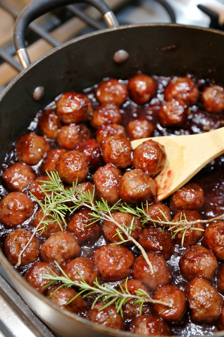 Cranberry Orange BBQ Meatballs