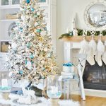 White Coastal Christmas Tree and Family Room Tour