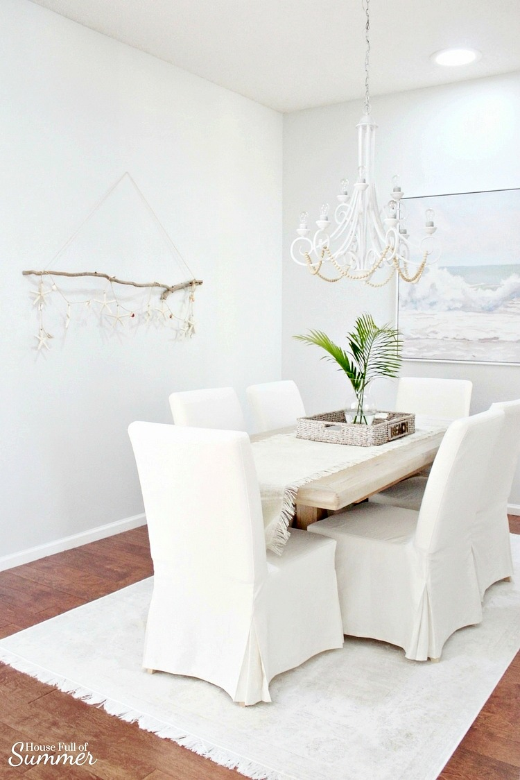Beachy Boho Dining Room - DIY Driftwood Wall Hanging