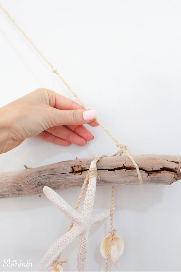 Driftwood wall hanging tutorial