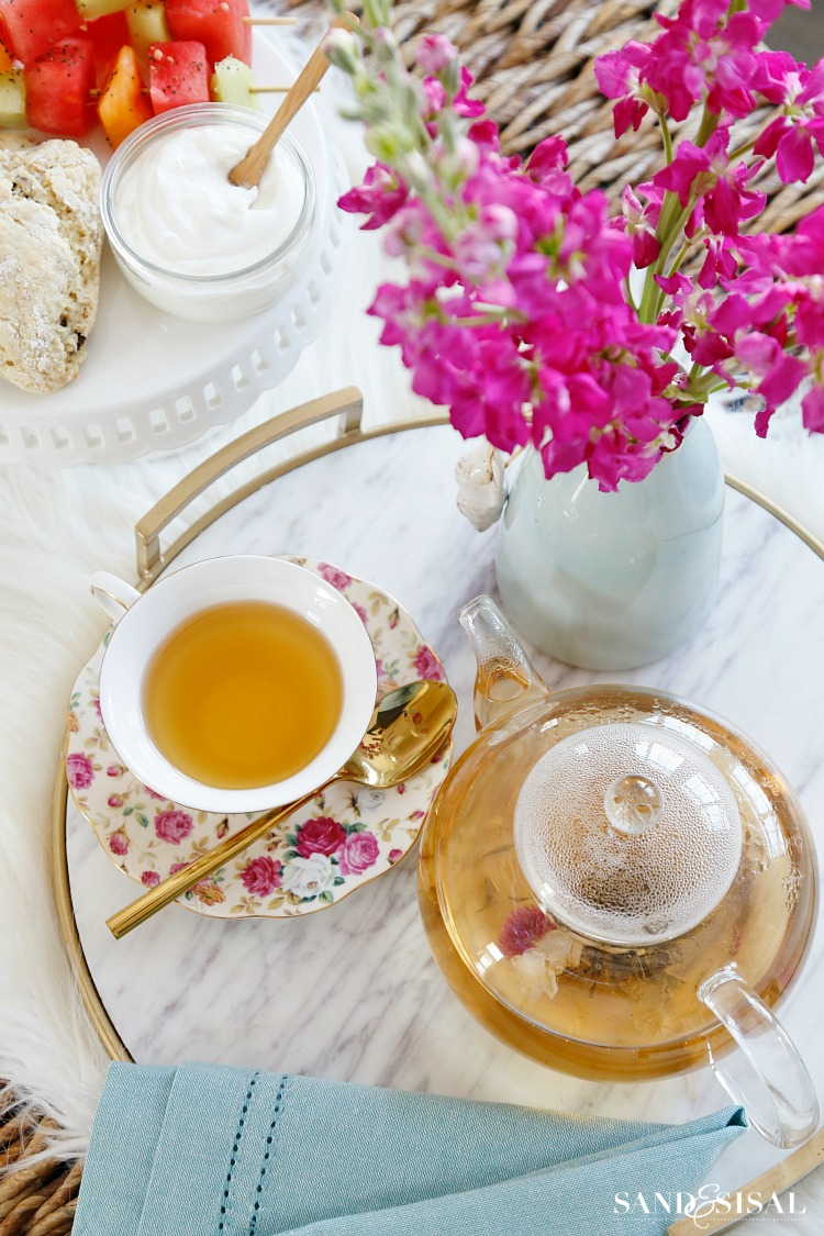 Flowering Green Tea - Tea Party Recipes + Ideas