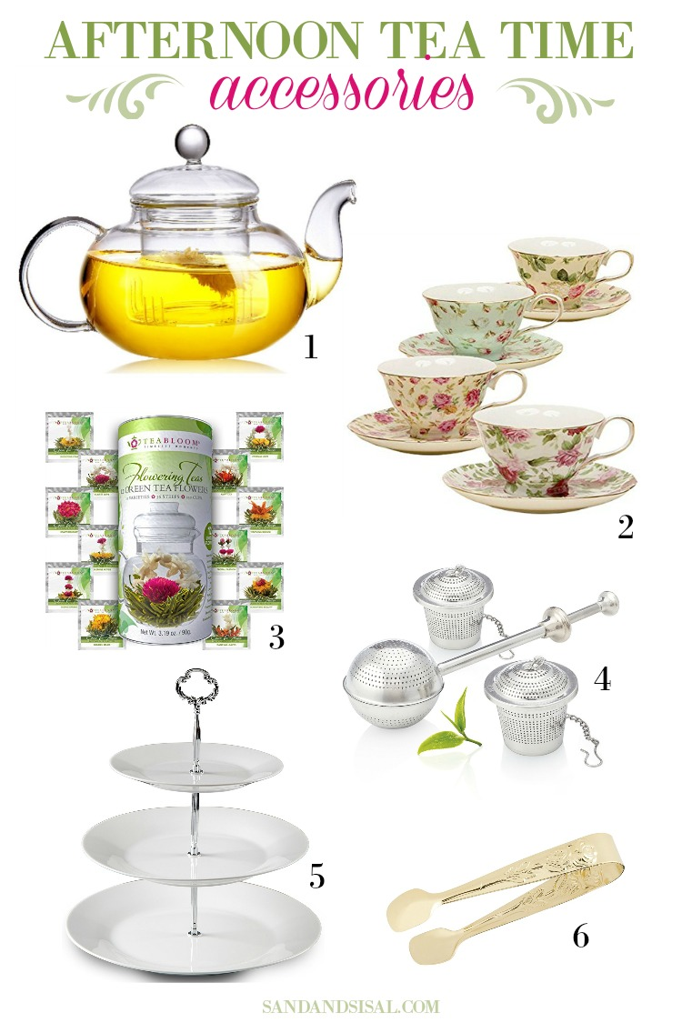afternoon tea time accessories