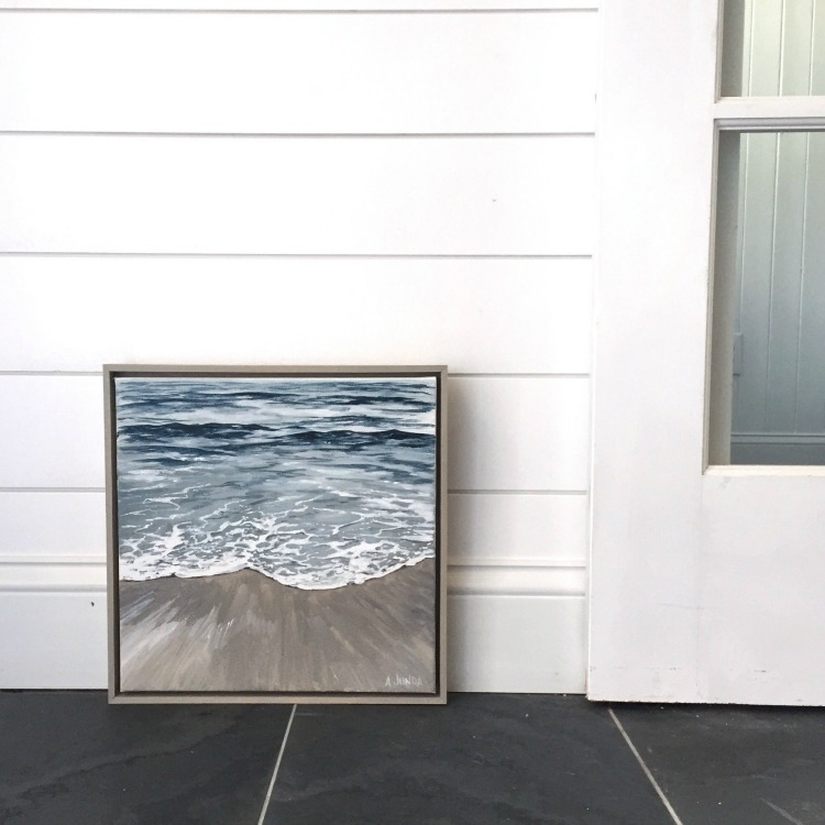 Beautiful ocean painting by coastal artist Alison Junda
