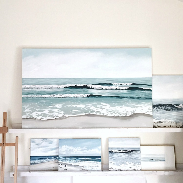 Beach and ocean paintings by Alison Junda