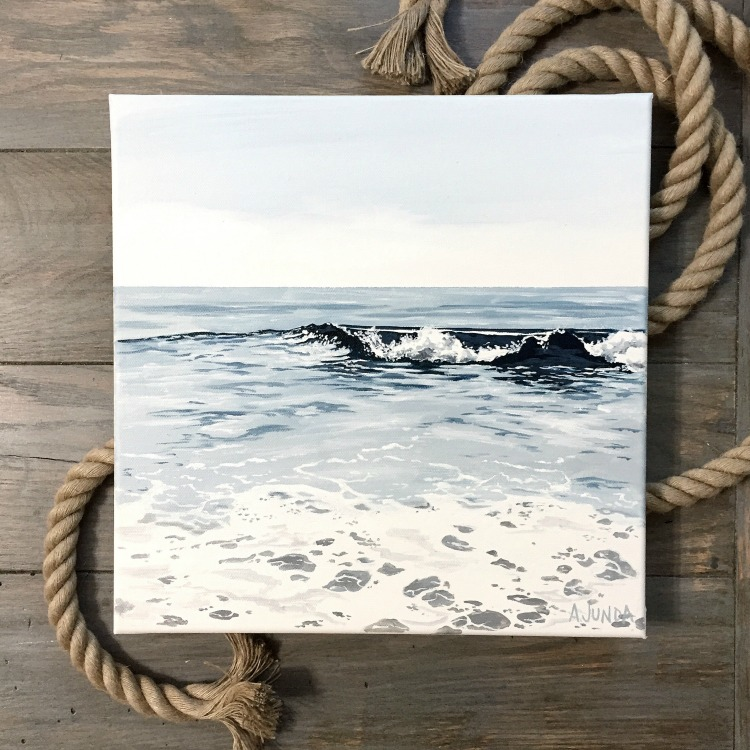 Beautiful ocean paintings by coastal artist Alison Junda