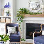Blue and White Coastal Living Room Updates