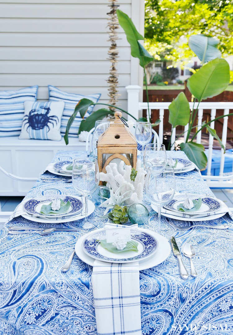 Coastal Outdoor Dining Space