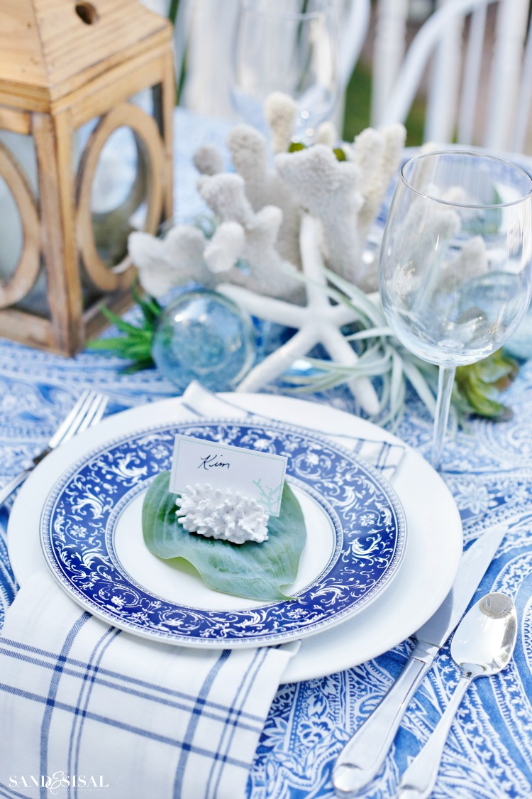 Coastal Outdoor Table Setting