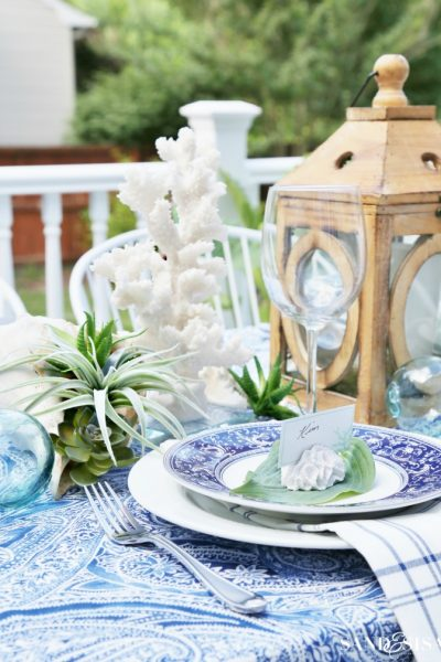 Create a Coastal Outdoor Dining Space