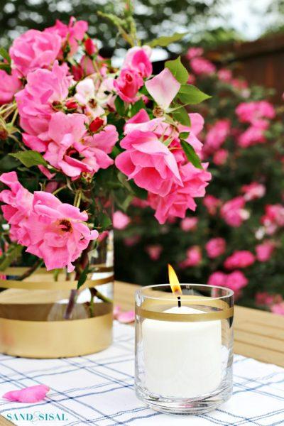 DIY Gilded Vases