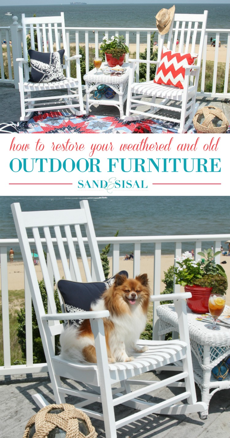 How to Restore your Weathered and old outdoor furniture