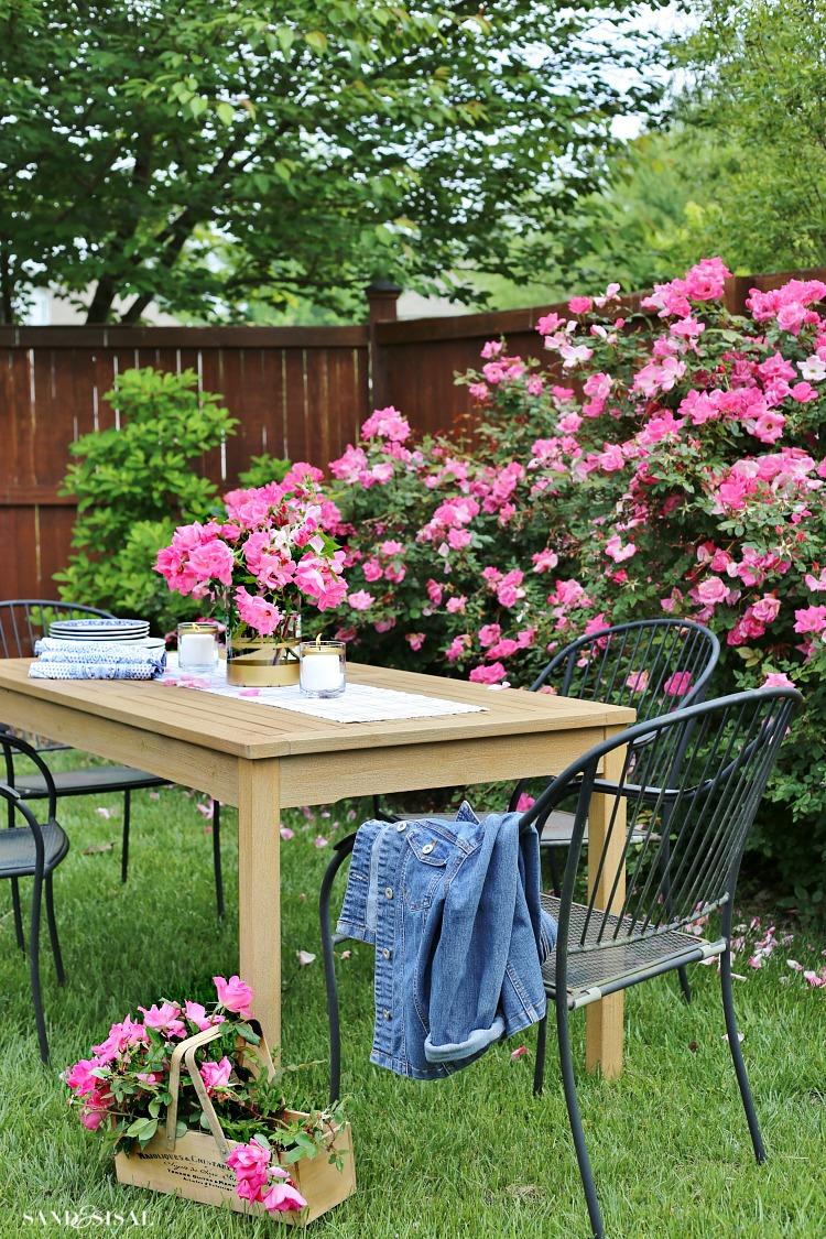Outdoor Entertaining in the Rose Garden