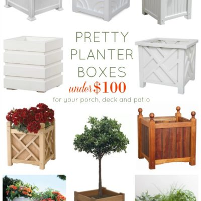 Pretty Planter Boxes Under 100