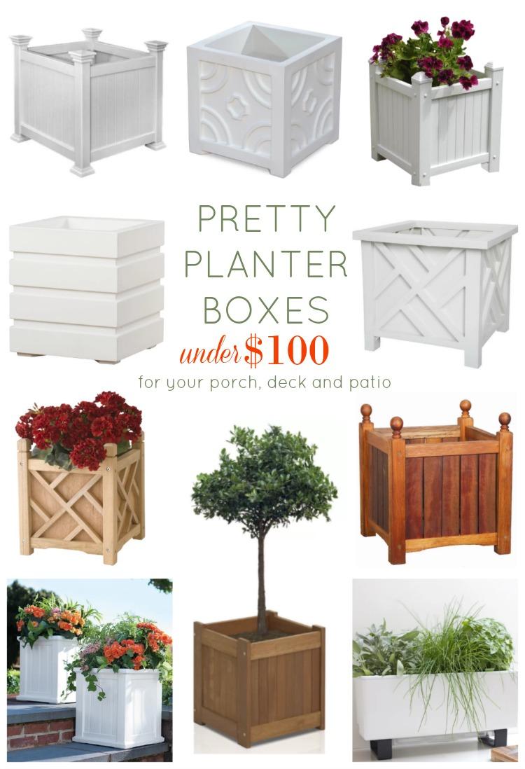 Pretty Planter Boxes Under 100