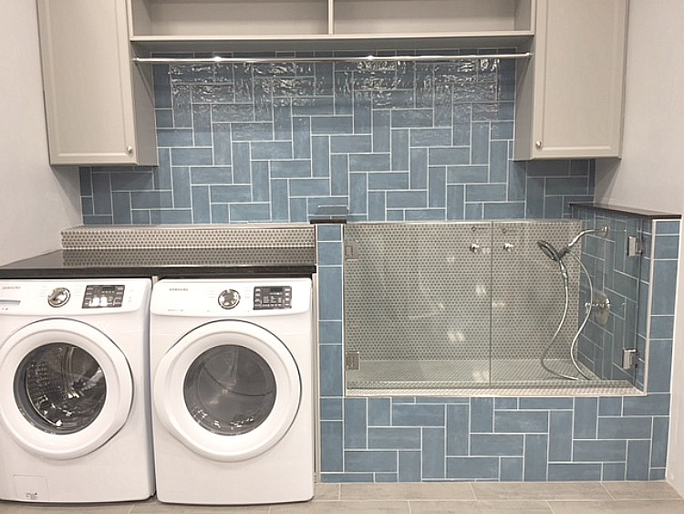 Laundry Room with Dog Shower