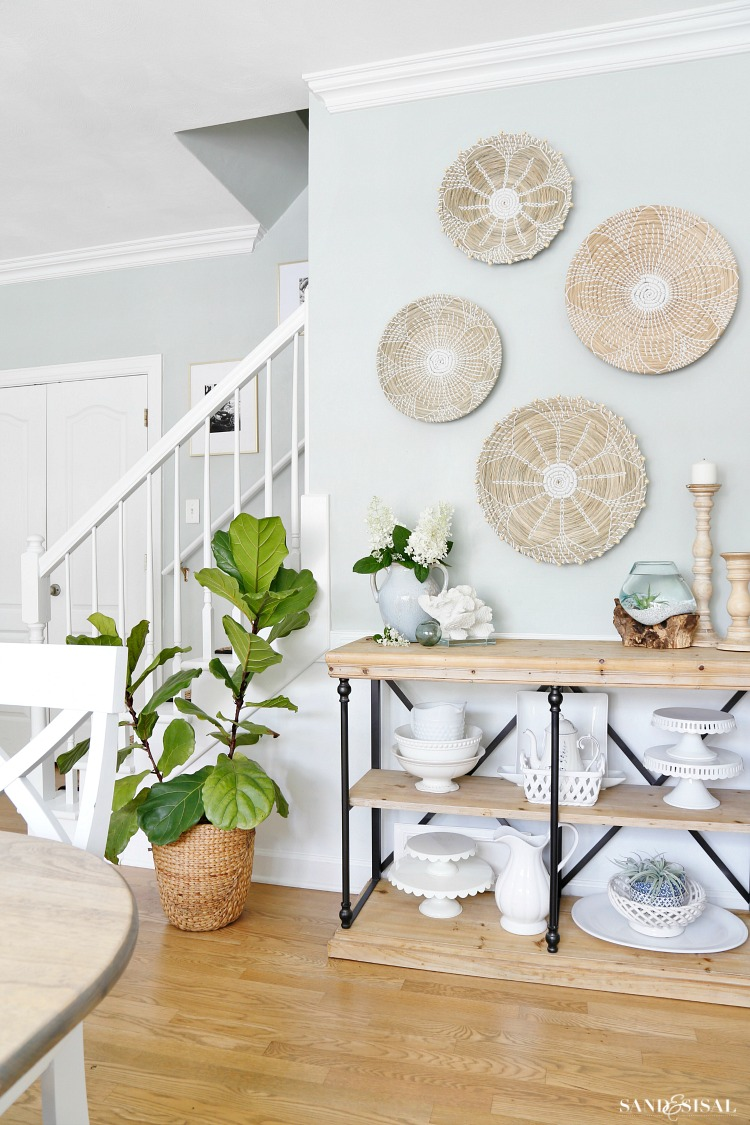 Coastal Kitchen Dining Area Summer Updates - Sand and Sisal on Modern Boho Wall Decor  id=14223