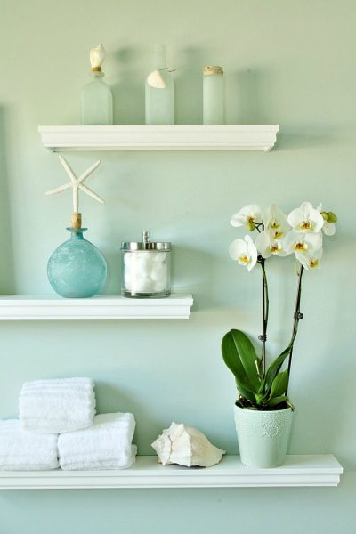 DIY Floating Display Shelves