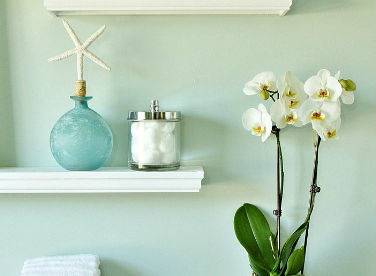 DIY Floating Display Shelves