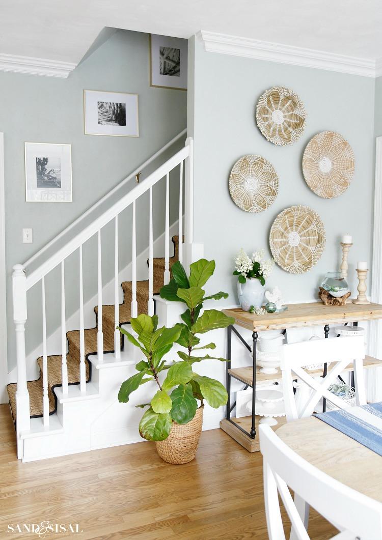 Sea grass Stair Runner - Coastal Kitchen Dining Area Summer Updates