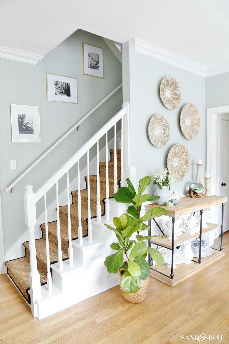 Summer Staircase Updates- Coastal Kitchen Dining Summer Updates