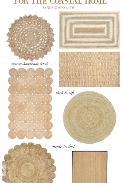 The Best Natural Fiber Rugs for a Coastal Home