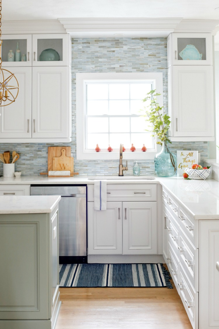 Coastal Fall Kitchen Tour