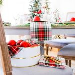 Christmas Village Dining Room Tablescape