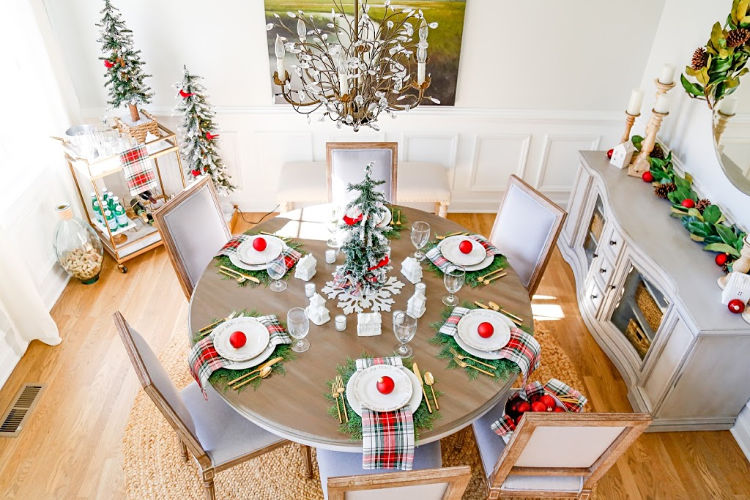 Christmas Village Table Setting and Holiday Entertaining Ideas