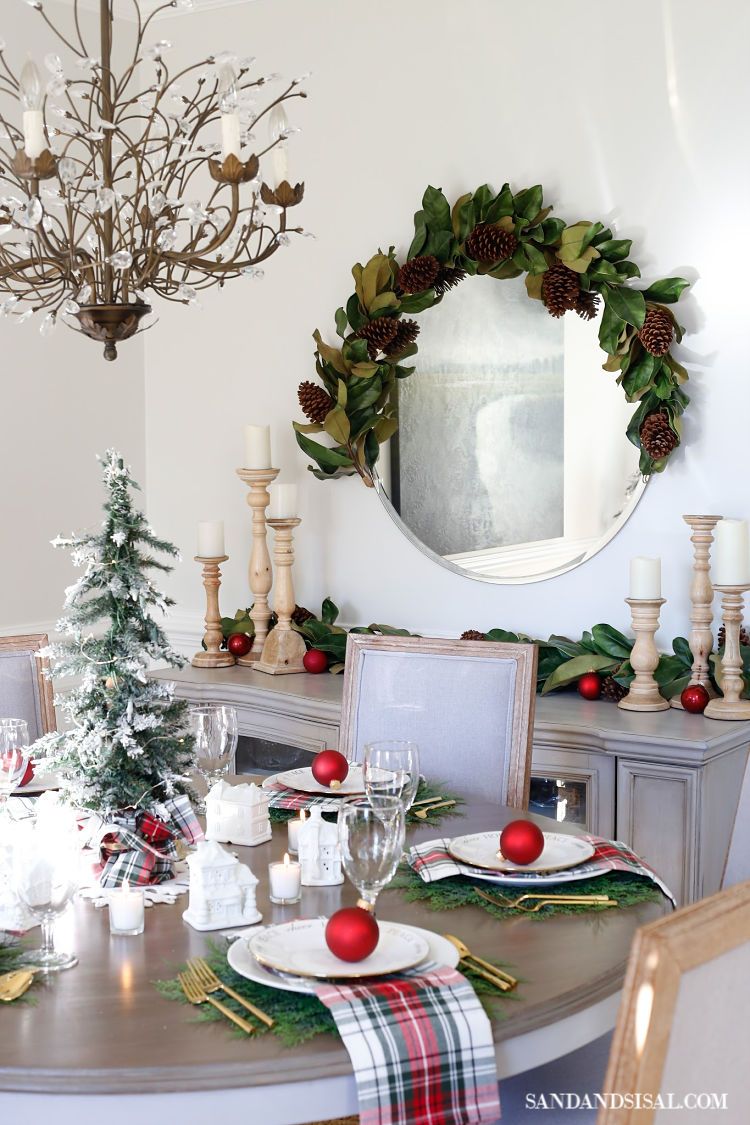 Christmas village table setting and holiday entertaining ideas - Dining table setting ideas ...