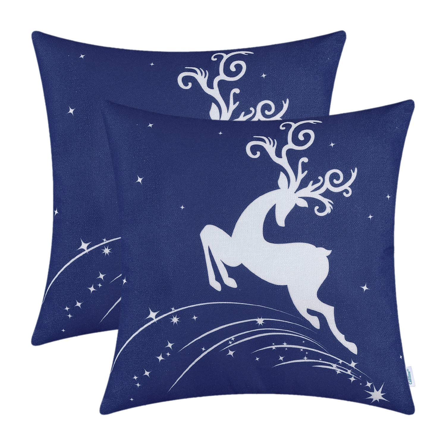 Jumping Reindeer Pillow Cover