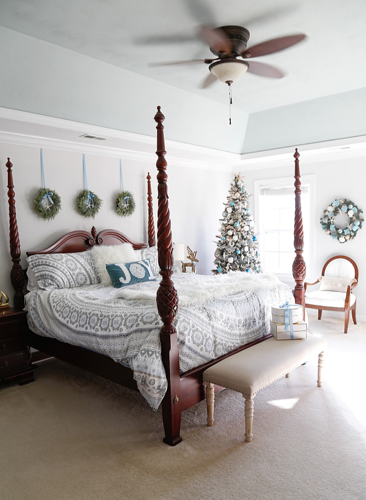Coastal Christmas Bedroom