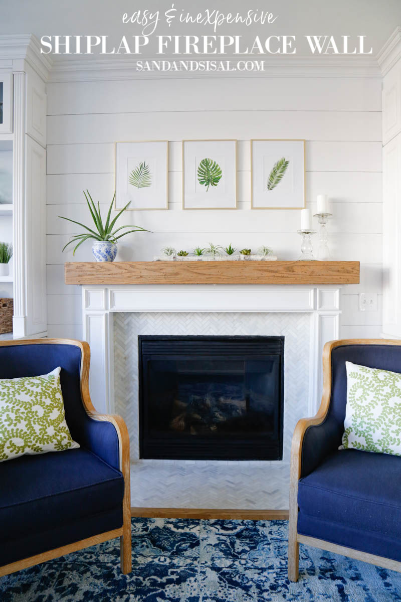 Shiplap Fireplace Wall