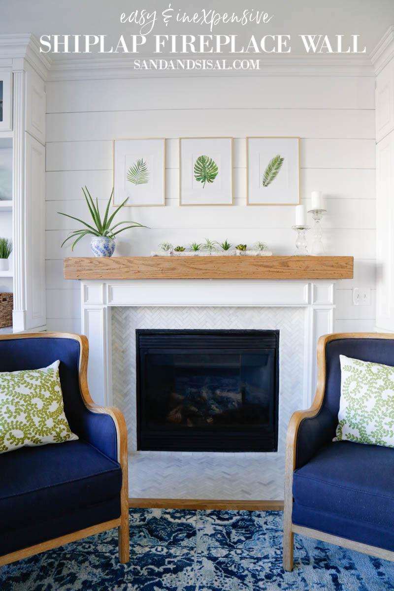 Shiplap Fireplace Wall