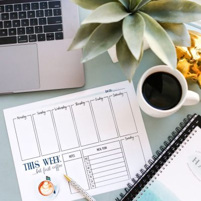 This Week… but First Coffee – Weekly Planner Printable