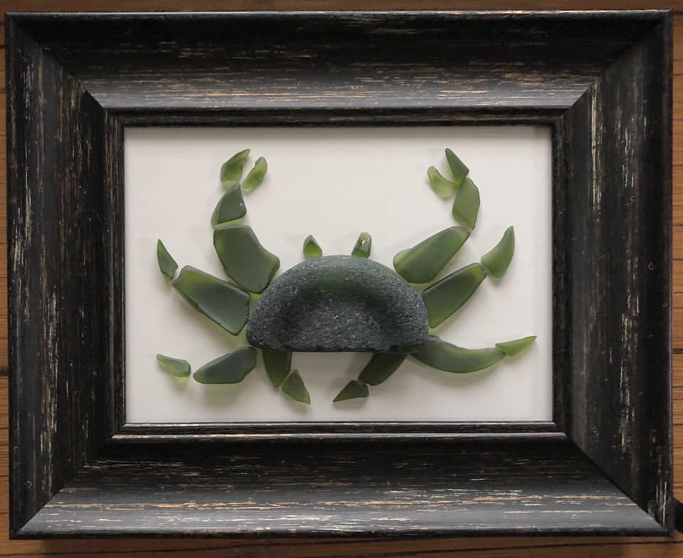 Beach Art - Heidi Peters - Green Crab