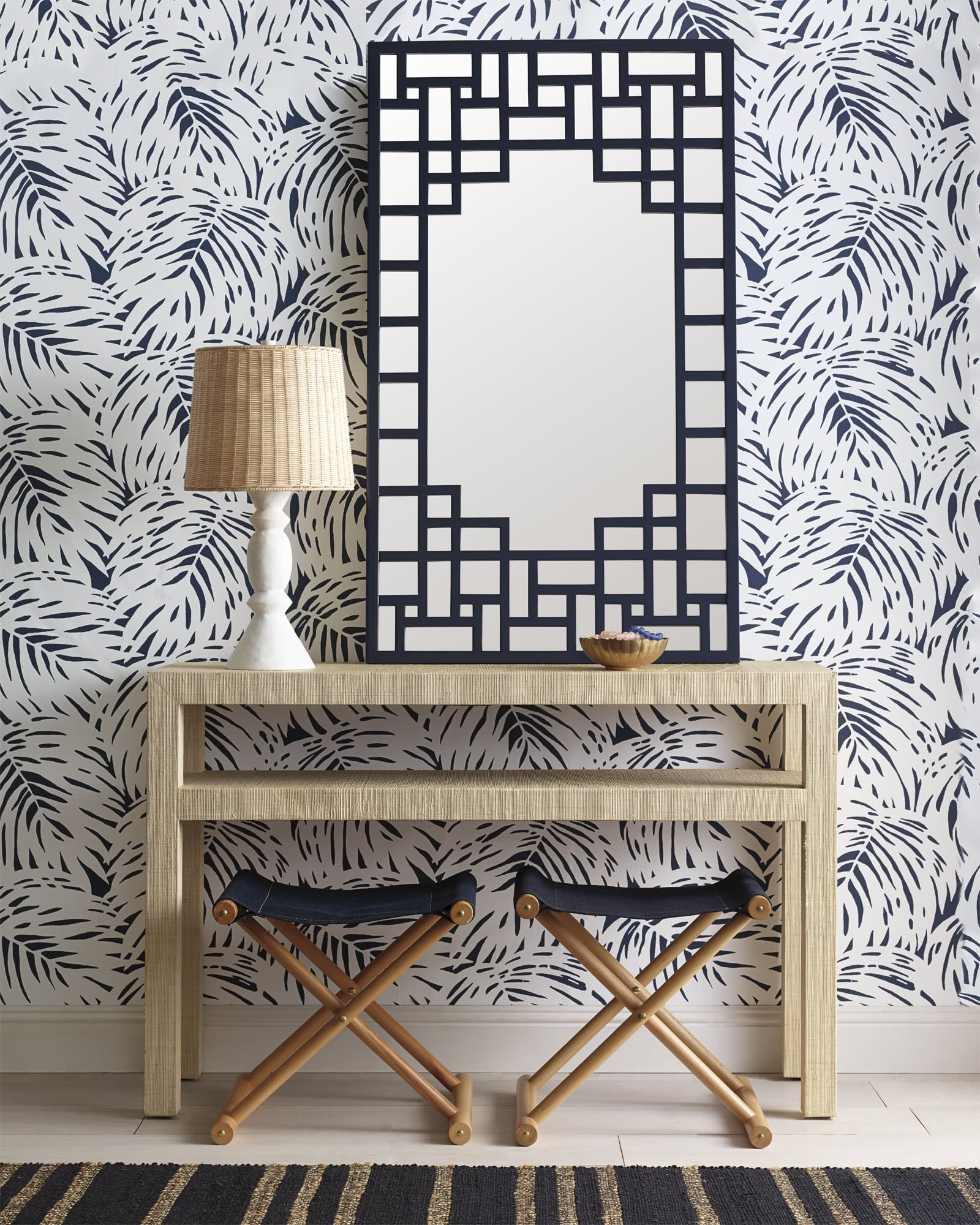 Beautiful Blue And White Wallpaper Patterns Sand And Sisal