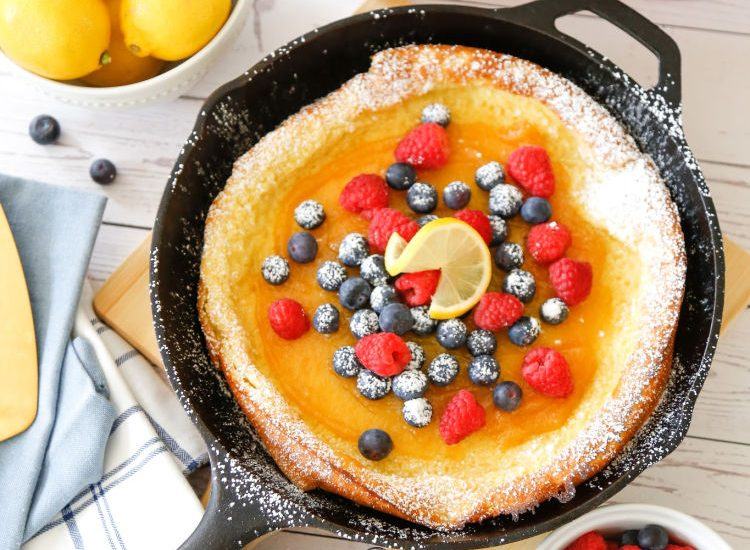 Lemon-Berry Dutch Baby Pancake