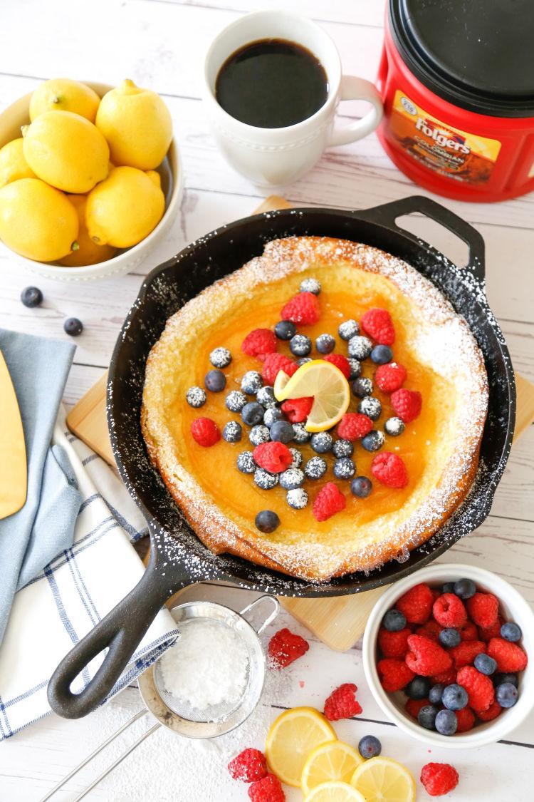 Lemon-Berry Dutch Baby Pancake