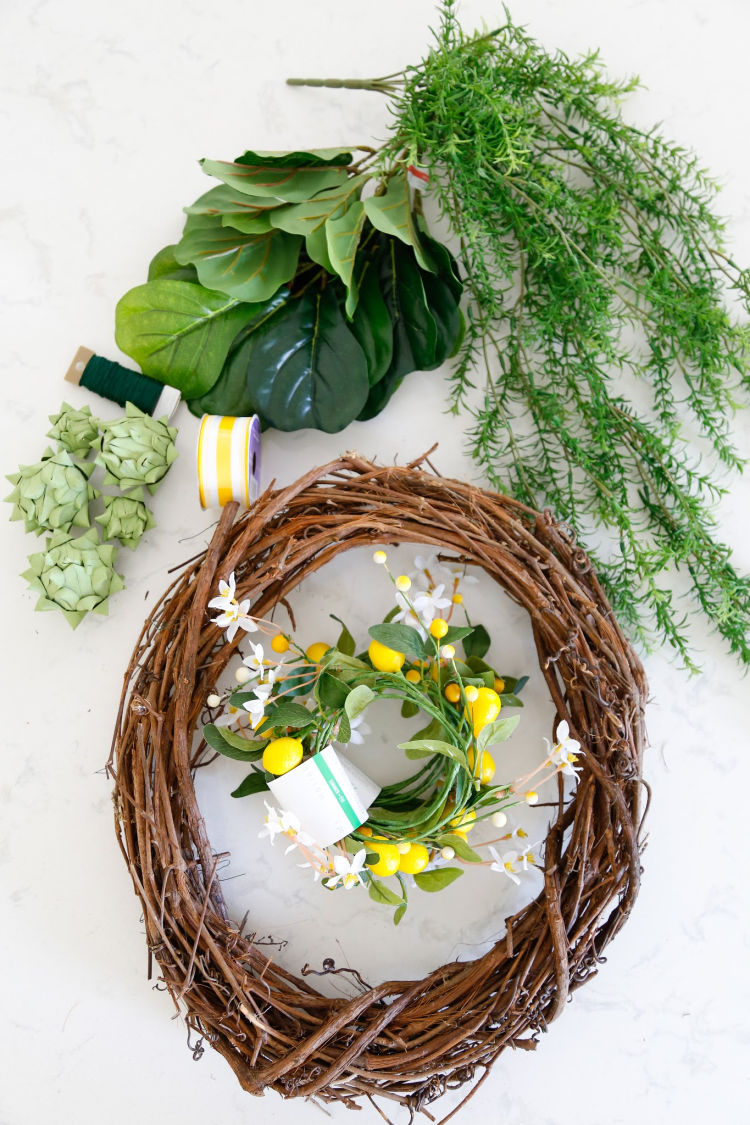 Artichoke Lemon Wreath