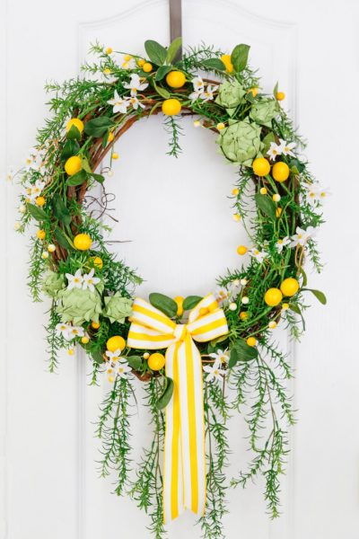 Artichoke Lemon Wreath